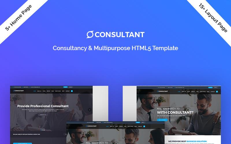 Consultant - Modèle de page de destination HTML5 polyvalent