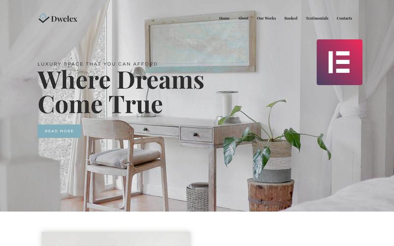 Dwelex - Real Estate One Page Modern WordPress Elementor Theme