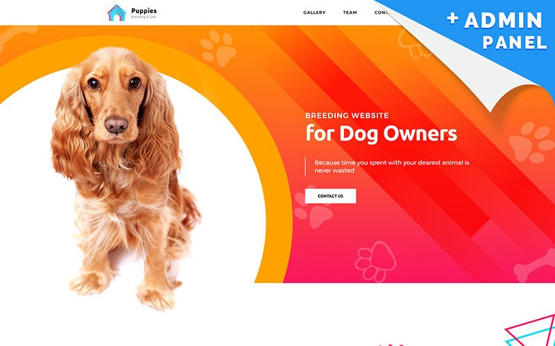 Puppies - Dog Breeder Landing Page Template