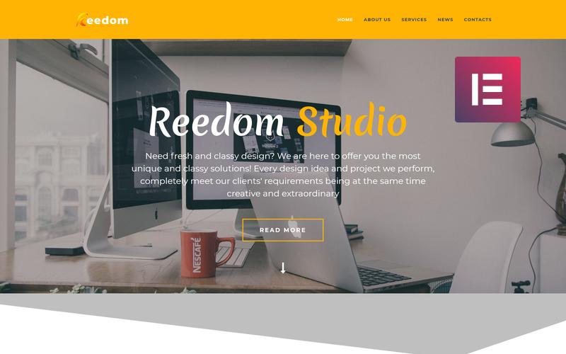 Reedom - Web Design Studio Multipurpose Minimal WordPress Elementor Theme