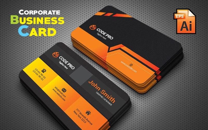 Креативная черная визитка - шаблон фирменного стиля