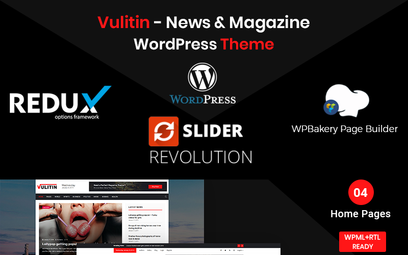 Vulitin - Nieuws & tijdschrift WordPress Theme