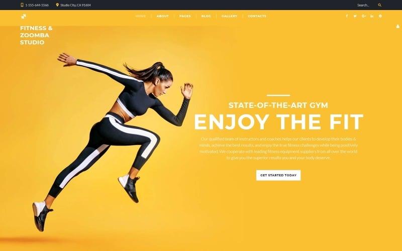 Fitness and Zoomba studio - Dance Studio Multipage Clean Joomla Template