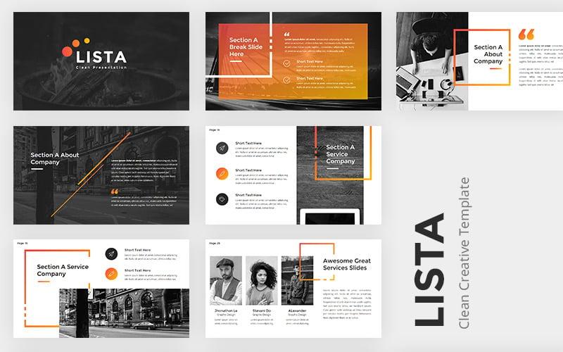 Lista Clean Creative PowerPoint PowerPoint Template