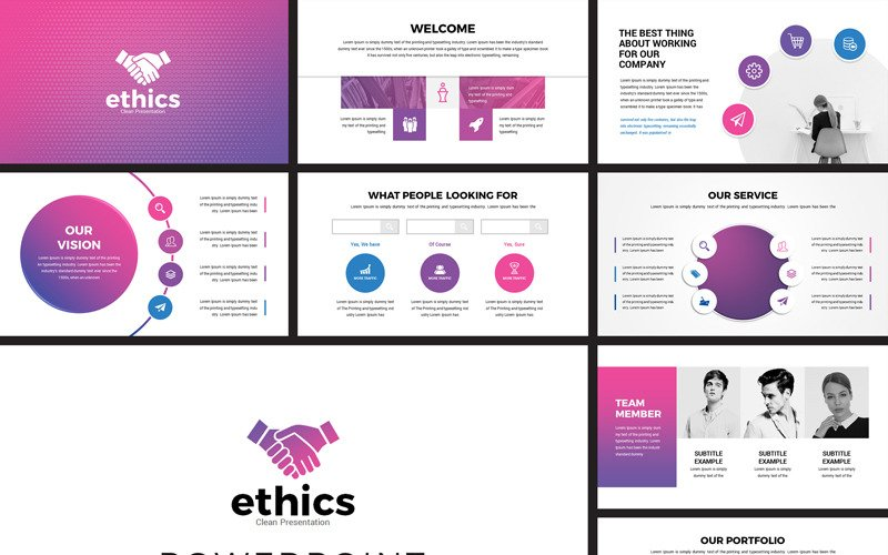 Ethics - Modern Business PowerPoint template