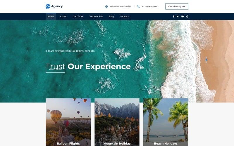 前往旅行社-旅行社清洁启动HTML着陆页模板