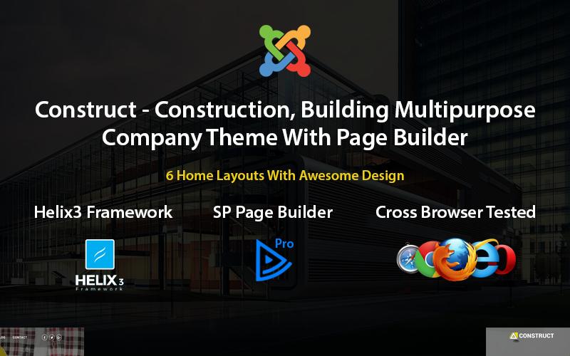 Construir - Plantilla Joomla de Construcción, Construcción