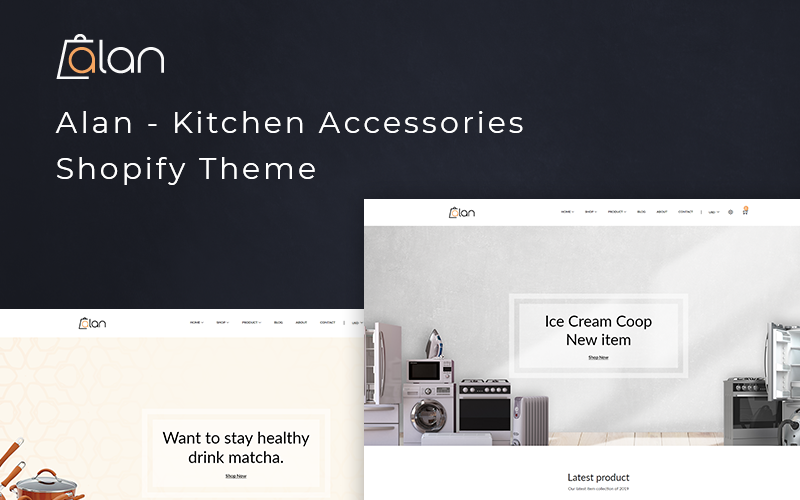 Alan - Shopify-thema voor keukenaccessoires