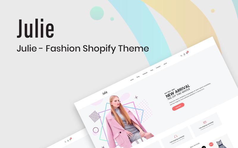 Julie - Divat Shopify téma