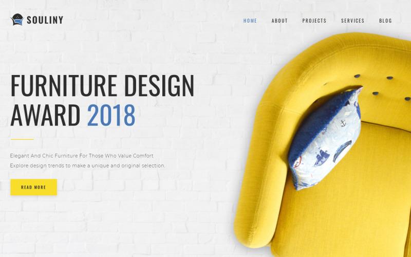 Souliny - многофункциональная современная тема WordPress Elementor для мебели