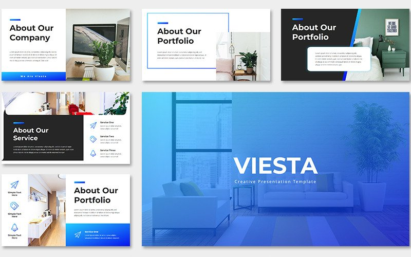 Viesta Creative PowerPoint template