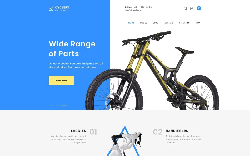 Cyclert-Cycling Multipage Clean HTML Webbplatsmall