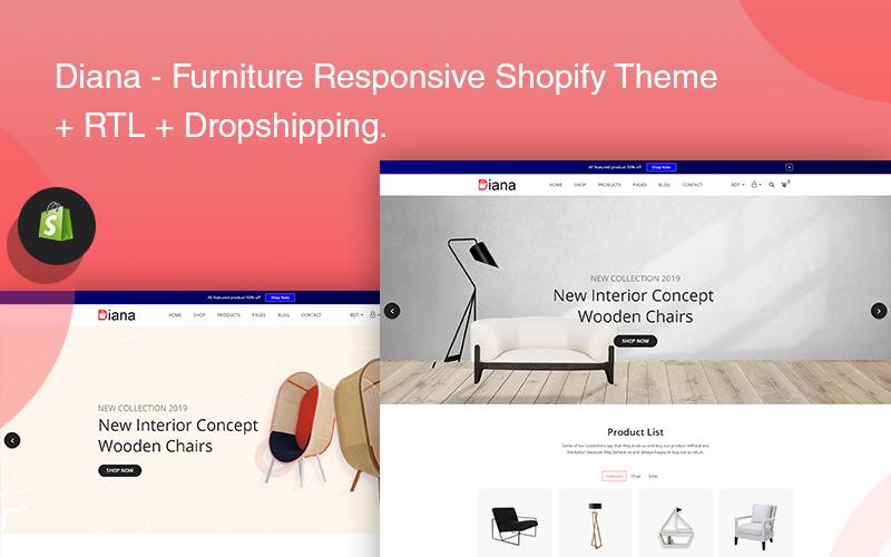 Diana - отзывчивая тема Shopify для мебели