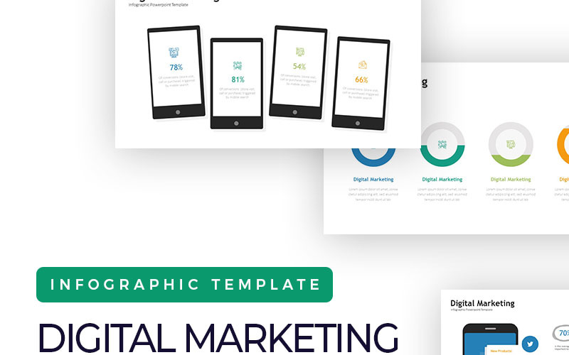 Digital Marketing Presentation - Infographic PowerPoint Template