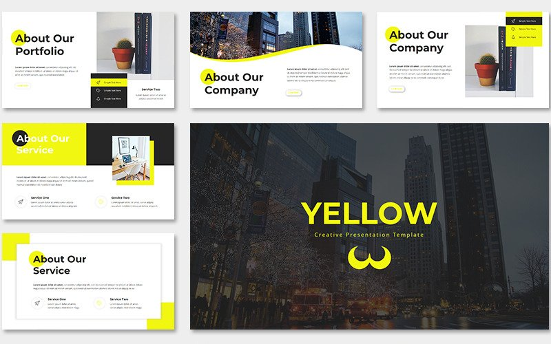 Yellow Creative PowerPoint Template