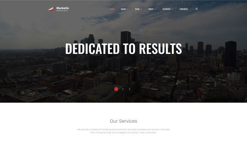 Marketic - Advertising Agency Ready-to-Use Clean HTML Website Template