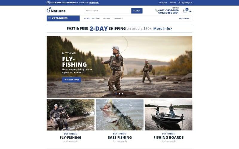 Naturas - Fishing ECommerce Classic Elementor WooCommerce Theme