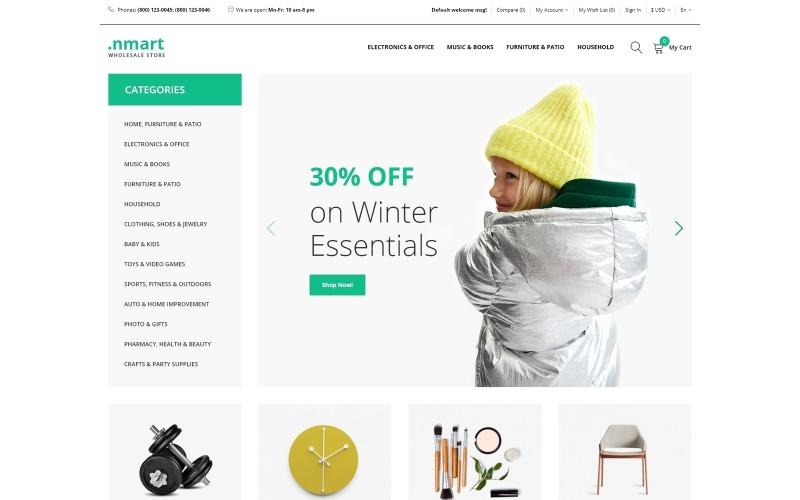 .nmart - Wholesale Clean OpenCart Template