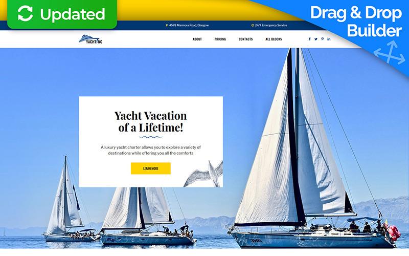 Yachting - Modèle de page d'atterrissage du Yacht Club