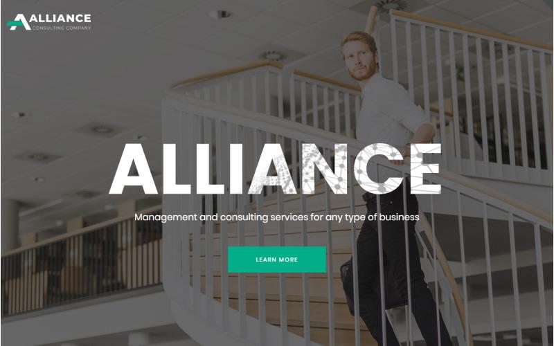 Alliance - Управление и консультирование Современный шаблон целевой страницы HTML5