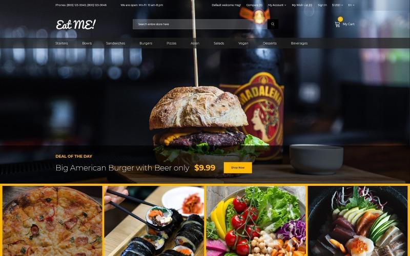 Eat Me - креативный шаблон OpenCart для кафе и ресторана