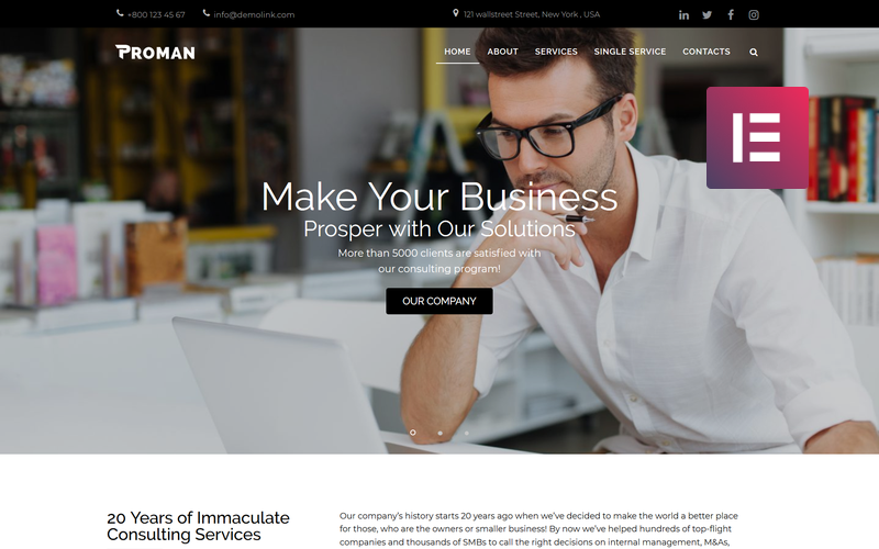 Proman - Business Multipurpose Modern WordPress Elementor Theme