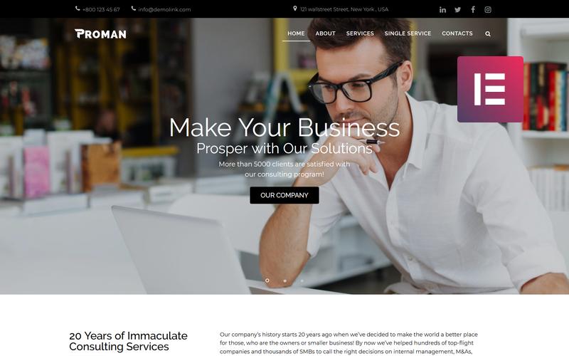 Proman - Tema Business Multipurpose Modern WordPress Elementor