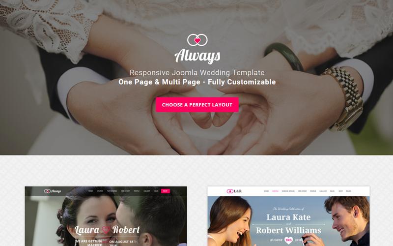 ALWAYS - Responsive Wedding Joomla Template