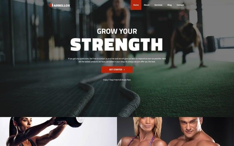Barbellox - Gym Multipurpose Modern WordPress Elementor Theme