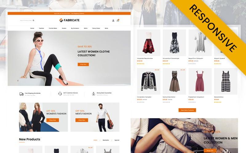 Fabricate - Unique Fashion Store OpenCart Template