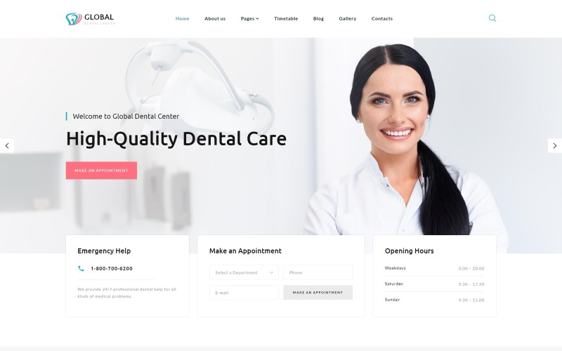 Global Dental Center - Dentistry Clean Usable Joomla Template