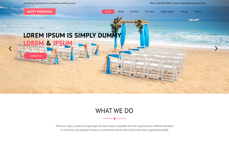 Happy Wedding - Wedding Planner PSD Template