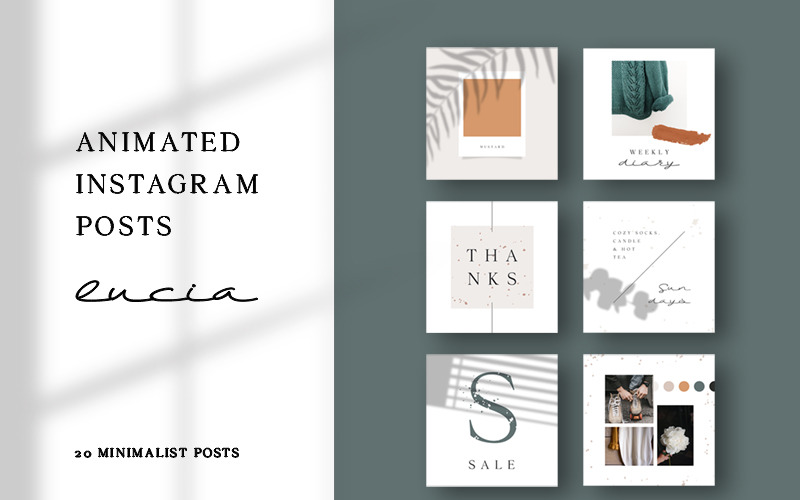 Lucia - Modèle de médias sociaux pour les publications Instagram