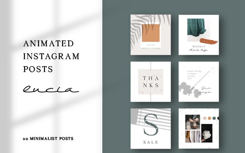 Lucia - modelo de mídia social de postagens no Instagram