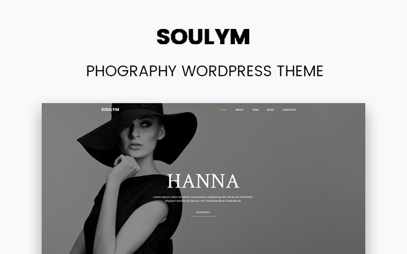 Soulym - Многоцелевая современная тема WordPress для фотографий Elementor