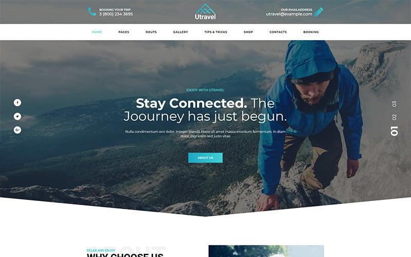 Utravel - Yürüyüş ve Dış Mekan Seyahat WordPress Teması