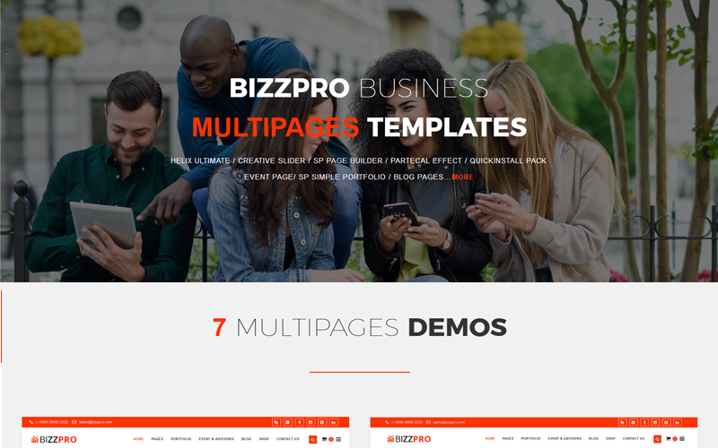 Bizzpro- Multipages Business Joomla Template