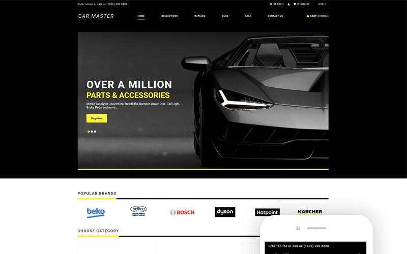 Car Master - Многостраничная креативная тема для Shopify Автозапчасти
