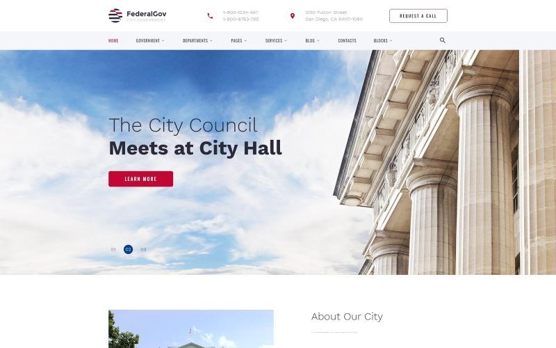FederalGov - Plantilla de sitio web HTML clásica lista para usar para el gobierno