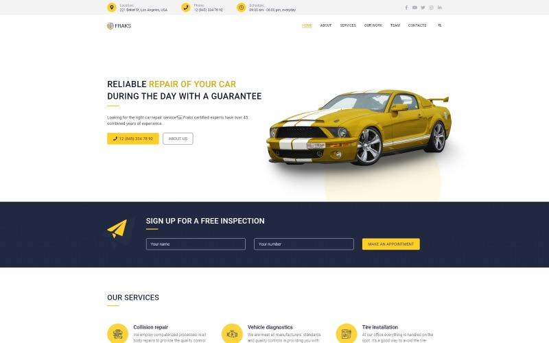 Fraks - Многоцелевая классическая тема WordPress Elementor для ремонта автомобилей