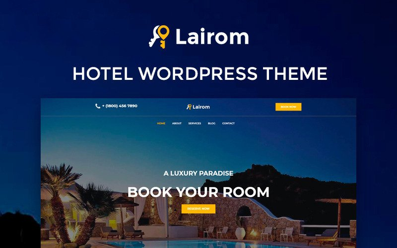 Lairom - Hotel Multipurpose Modern WordPress Elementor Theme