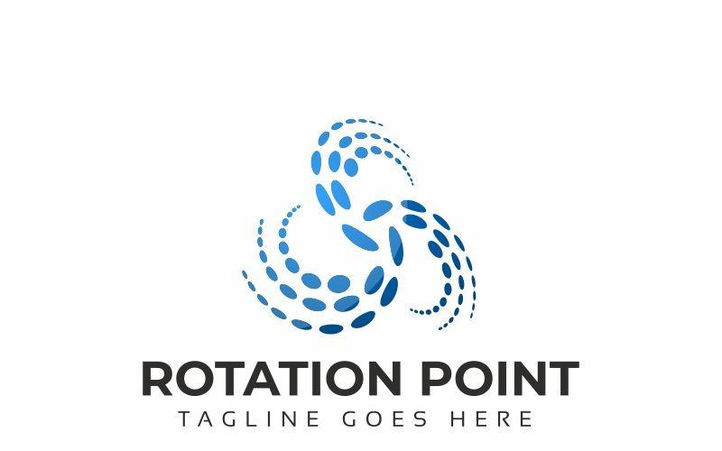 Шаблон логотипа точки вращения