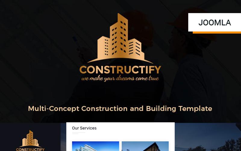 Šablona Joomla pro konstrukci a stavbu