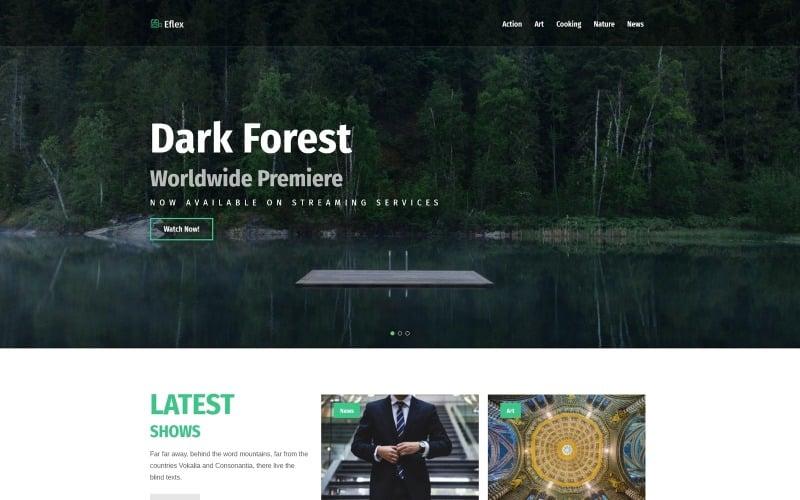 Eflex - Video Blog Multipurpose Classic WordPress Elementor Theme