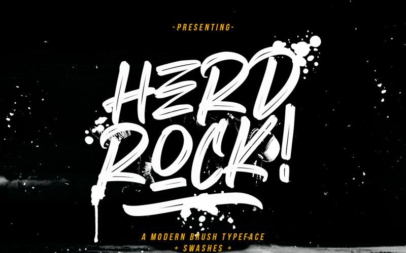 Herdrock Brush lettertype