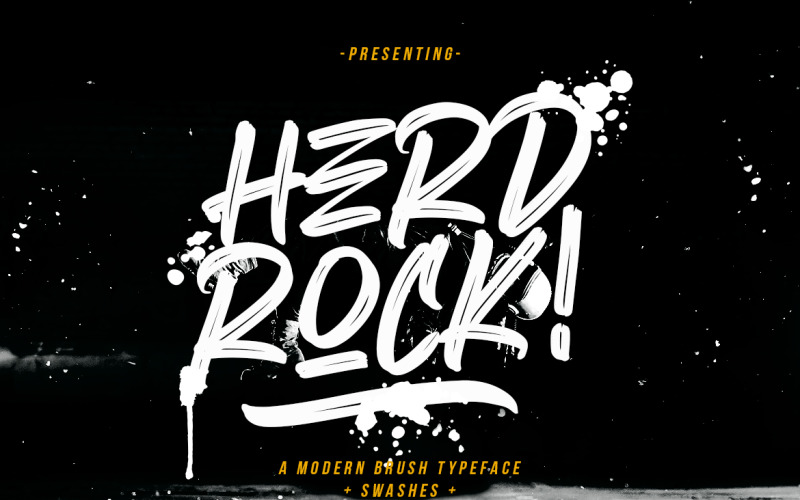 Herdrock Brush Typeface Yazı Tipi