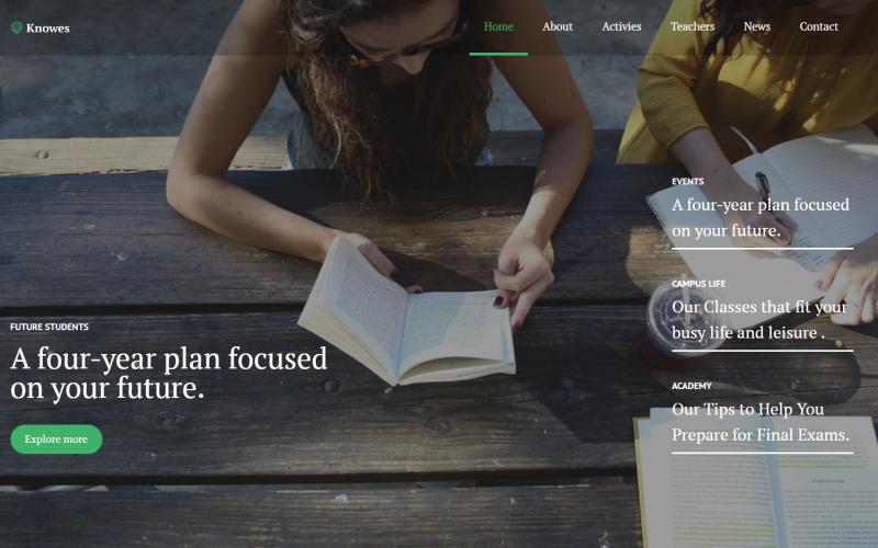 Knowes - Education Multipurpose Modern WordPress Elementor Theme