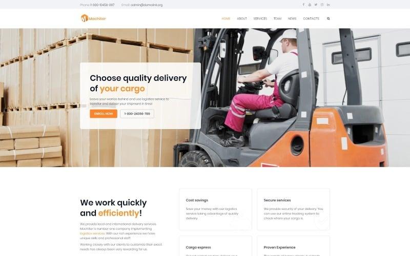 Machiter - Logistics Multipurpose Classic WordPress Elementor Theme