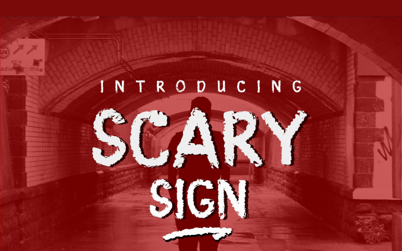 Scary Sign Font