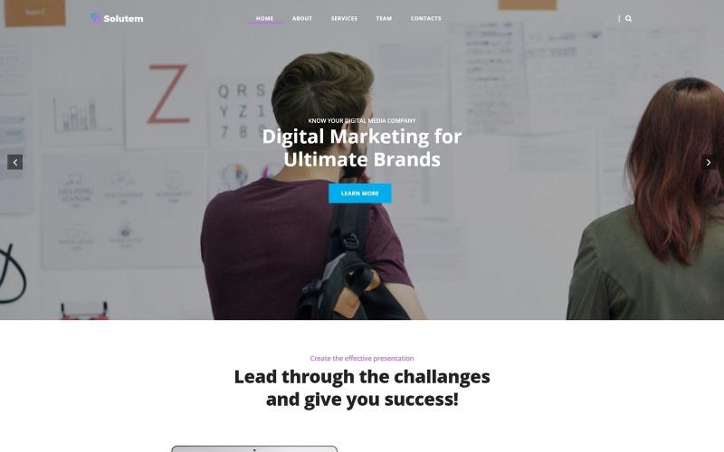 Solutem-创意机构多用途现代WordPress Elementor主题
